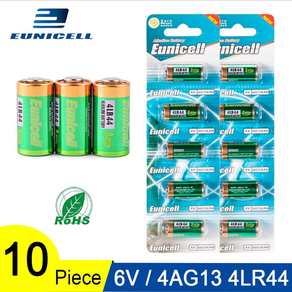 Bateria alcalina 4lr44, bateria de 6v 145mah 4lr44 para células de carro remota a544v 4034px px28a, com 10 peças = 2 cartões l1325 544 4a76 4ag13 baterias secas