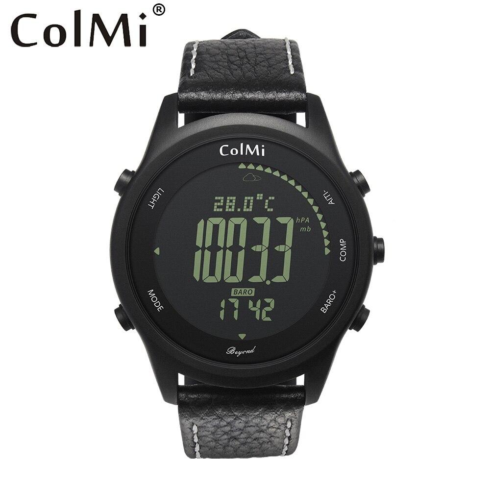 COLMI au-delà 5ATM étanche altimètre baromètre thermomètre boussole météo bord de randonnée en plein air hommes sport numérique montre smart watch