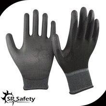 SRSAFETY 6 pairs 13 г Черный PU перчатки завод