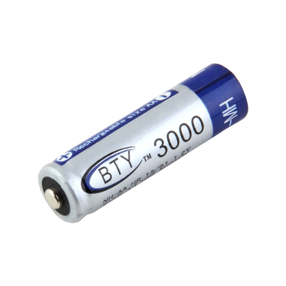 2 pcs AA 1.2V 16340 3000mAh Rechargeable Nickel Metal Hydride Battery Safe Environmental Friendly For MP3 RC Toys Camera