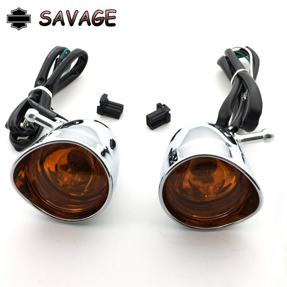 Front Visor Trim Ring Turn Signal Light For Harley XL883 XL1200 parts orange LAMP купить