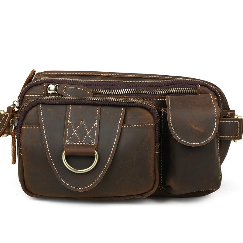 2018 men travel bags genuine leather bag men waist pack waist bag fanny pack waist belt bag Cow leather2018 men travel bags genuine leather bag men waist pack waist bag fanny pack waist belt bag Cow leather