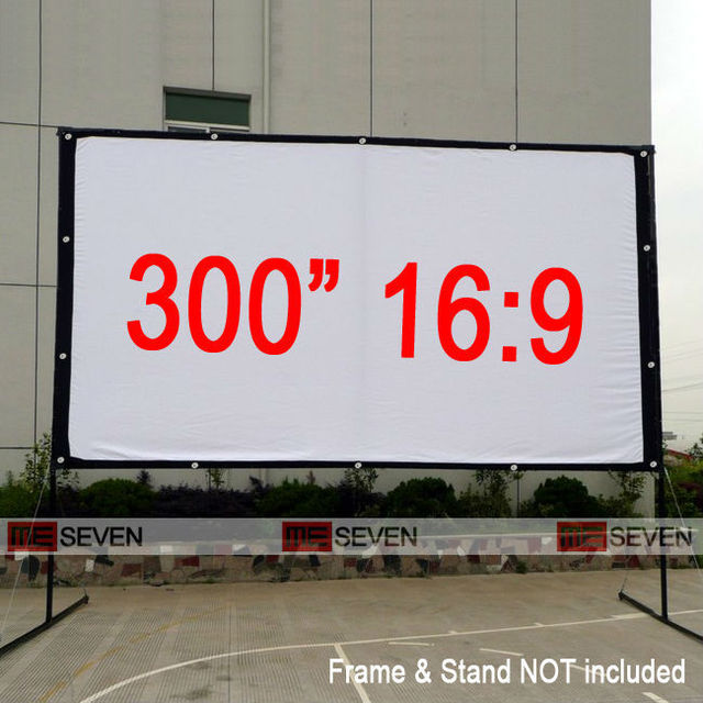 300 Inches 16:9 Big Size Outdoor Frame Canvas Fabric Projection ...