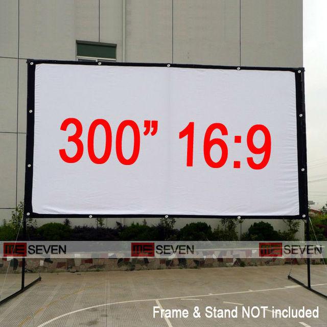 300 pulgadas 16:9 tamaño grande al aire libre Marcos lona Telas ...