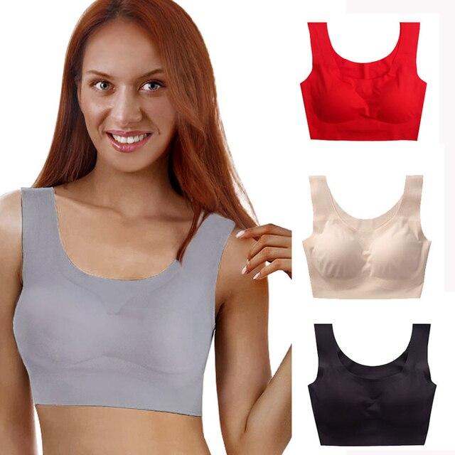 b77a564279b Meizimei Sexy Seamless Bras Breathable Brassiere Women Rimless Bras big bra  lingerie Padded Wire Free shake proof bra top X0005