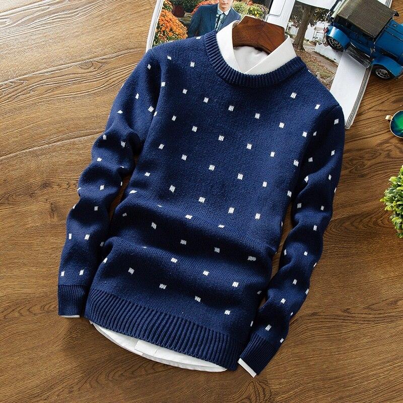 Осень 2017 г. мужские пуловеры свитера простой Стиль хлопок O шеи свитер Джемперы тонкий мужской трикотаж серый черный