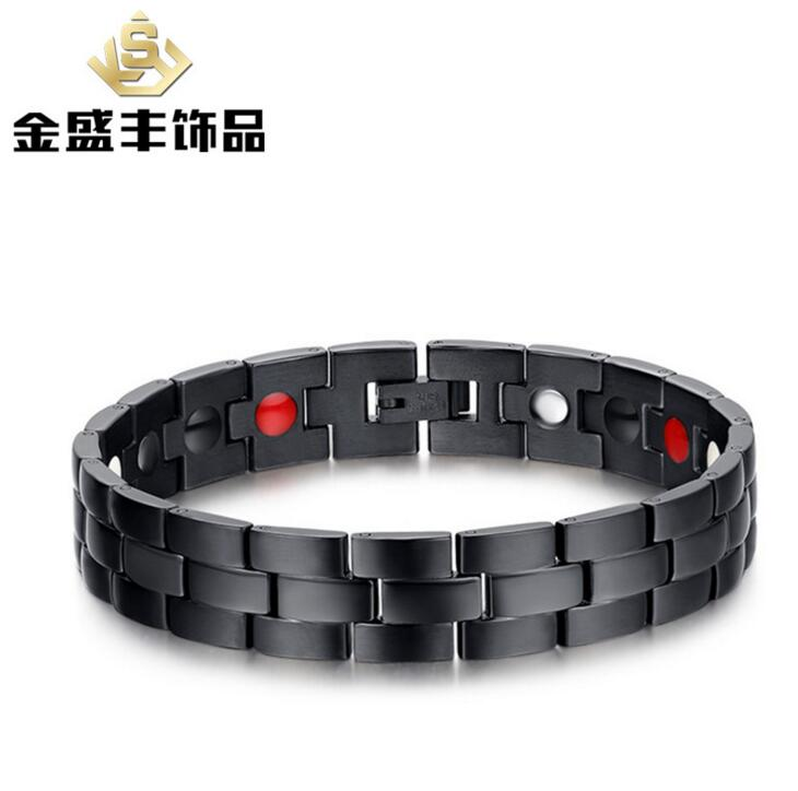 21.5 cm Top Quality Health Men Bracelet Bangle 316L Stainless Steel Magnetic Care Jewelry