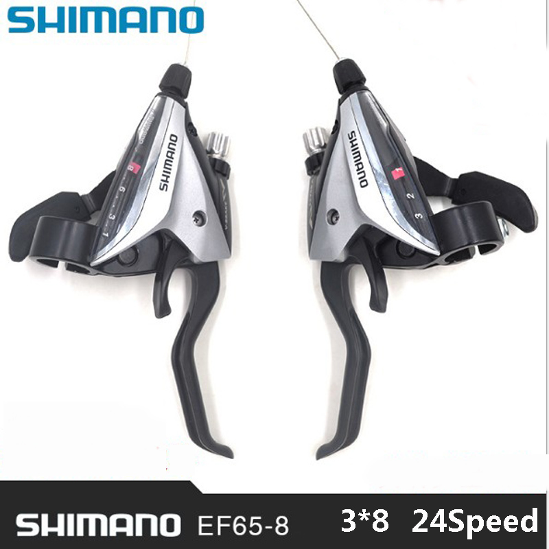 SHIMANO ACERA Mountain bike ST-EF65 shift brake lever 3*8 speed 24s MTB bicycle bike Conjoined DIP Bicycle Derailleur  shimano acera mountain bike st ef65 shift brake lever 3 8 speed 24s mtb bicycle bike conjoined dip bicycle derailleur
