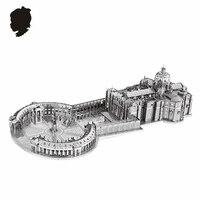 STPETER'S BASILICA NANYUAN 3D Câu Đố B32202 1:1000 3 Sheets Kim Loại Mô Hình Lắp Ráp tòa nhà Nổi Tiếng tại Ý Đồ Chơi & quà tặng
