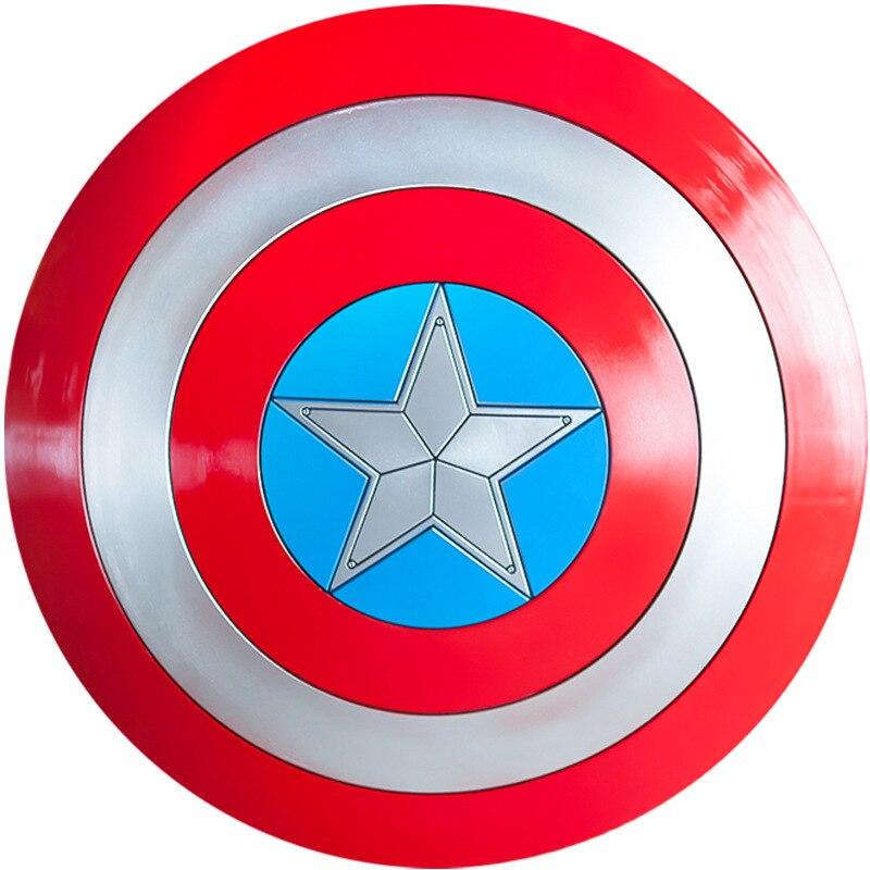 Capitão américa role play 1:1 plástico abs escudo cosplay presente halloween prop diâmetro 57 cm versão perfeita steve rogers 1.2kg