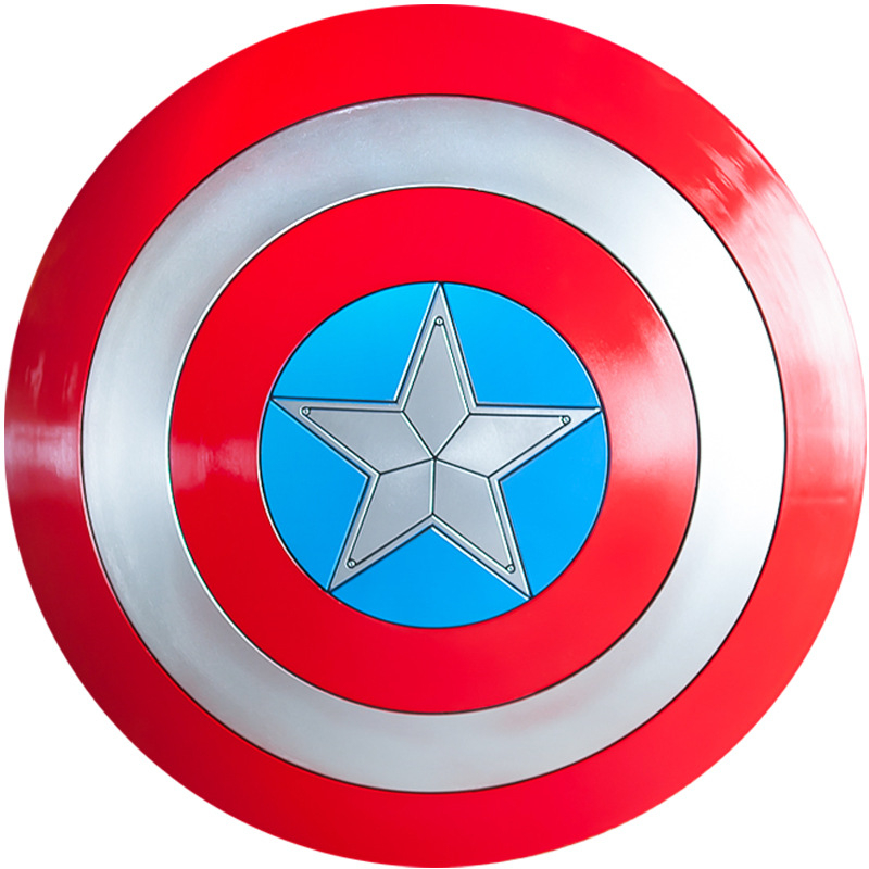 Captain America role play 1:1 ABS plastic Shield Cosplay Gift Halloween Prop Diameter 57 cm Perfect version Steve Rogers 1.2kg image