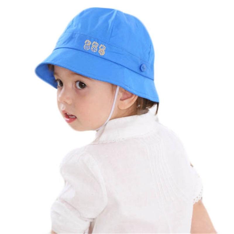 8494d42ef US $5.73 18% OFF Baby Hat Summer Boys Sun Hat Baby Girls Cotton Hats Autumn  Kids Beach Bucket Cap Lovely Children Beanies Windproof Fisherman Hat-in ...