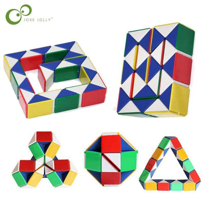 24-segment Snake Magic Cubes Creative Shengshou Twenty-four Parts Magic Ruler Puzzle Cube Twist Toy For Kids Toddler Cubo Megico Buy Now Puzzles & Games