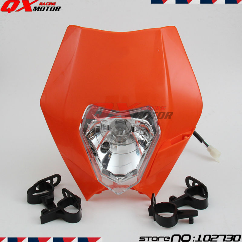 Motorcycle Headlight 12V 35W Headlight Head Lamp Fairing for ktm SX EXC XCF SXF SMR Motorcycle MX Dirt Bike Off Road Dual Sport huayang kayo 2016 t2 t4 general off road motorcycle headlight dirt pit bike head lamp light page 9
