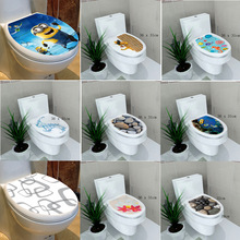 34* 46 cm sticker WC cover toilet pedestal toilets stool toilet lid sticker WC home decoration bathroom Accessories