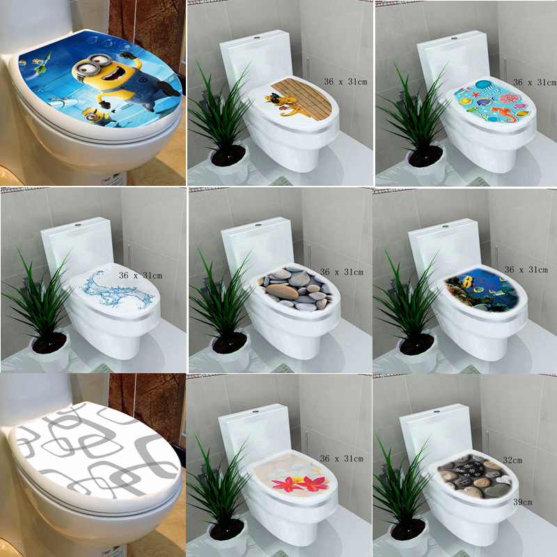 Buy 34 46cm sticker wc toilet cover toilet pedestal toilets stool toilets - Deco wc blauw ...