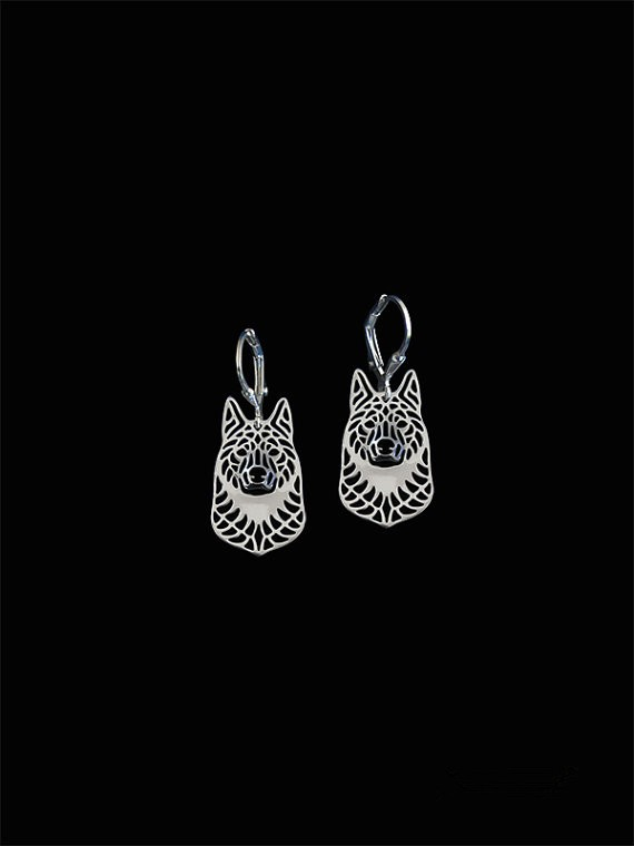 New 2016 Unique Romantic Gold Silver Color Norwegian Elkhound Drop Earrings Wholesale Animal Earrings For Women Girl Aros
