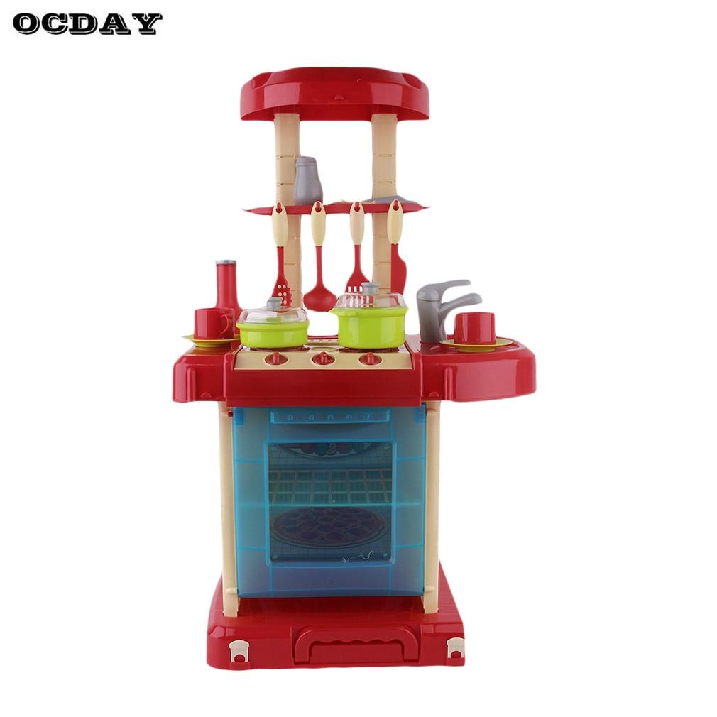Детский претендует Кухня игрушки классические Пособия по кулинарии игрушка Кухня Посуда Пан Pots Кук набор имитация Кухня игрушки для подаро... ...