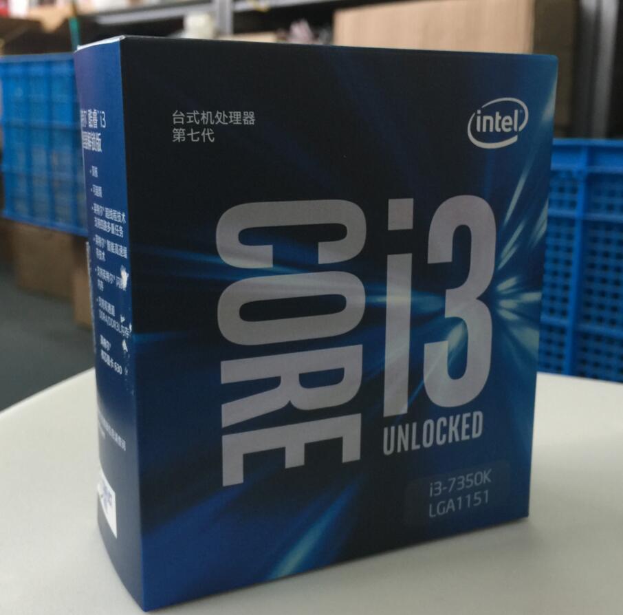 Intel Core 7 series Processor I3 7350K I3-7350K Boxed processor CPU LGA 1151-land FC-LGA 14 nanometers Dual-Core cpu цена 2017