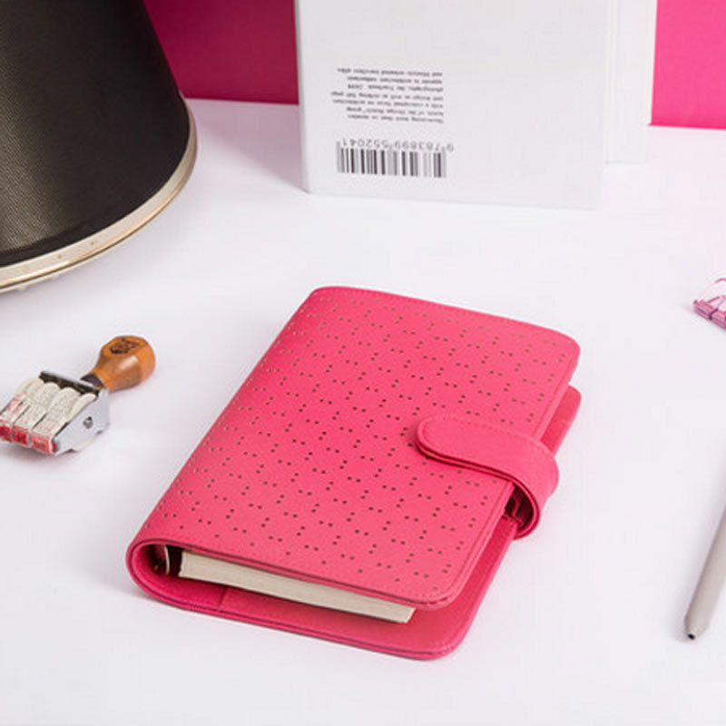 Creative Hollow Leather Spiral Notebook,Cute School Agenda Organizer/Binder Diary Planner/travel Journal Filofax Stationery A5A6