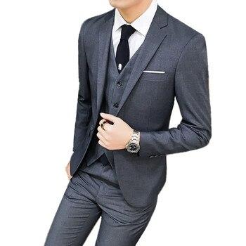 Wedding Suits Groom Tuxedos Blazers Coat Trousers Waistcoat 3 Pieces Sets