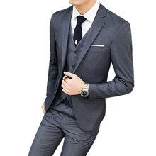 379b9574546 Jacket Pants Vest/망 한 벌 공식적인 Men 한 벌 Set Men 웨딩 한 벌 신랑 턱시도 블레이져 Coat 바지 양복  3 개 Sets