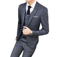 Jacket Pants Vest / Mens Suits Formal Men Suit Set Men Wedding Suits Groom Tuxedos Blazers Coat Trousers Waistcoat 3 Pieces Sets
