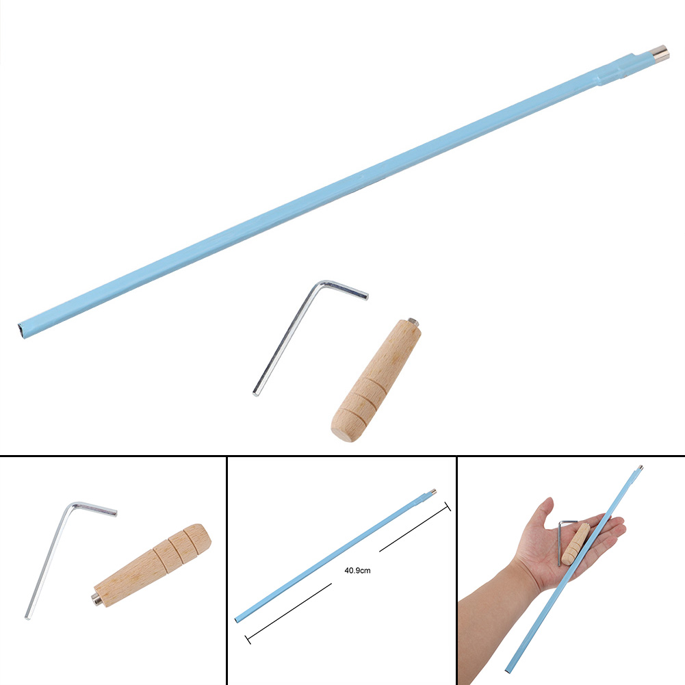 Guitar Parts Truss Rod Course Guitar Truss Rod body is-wrapped in blue shrink + wooden handle L shaped allen wrench For Guitar 6pcs blue steel double truss rod for electric guitar luthier two way adjustment guitar processador accessories