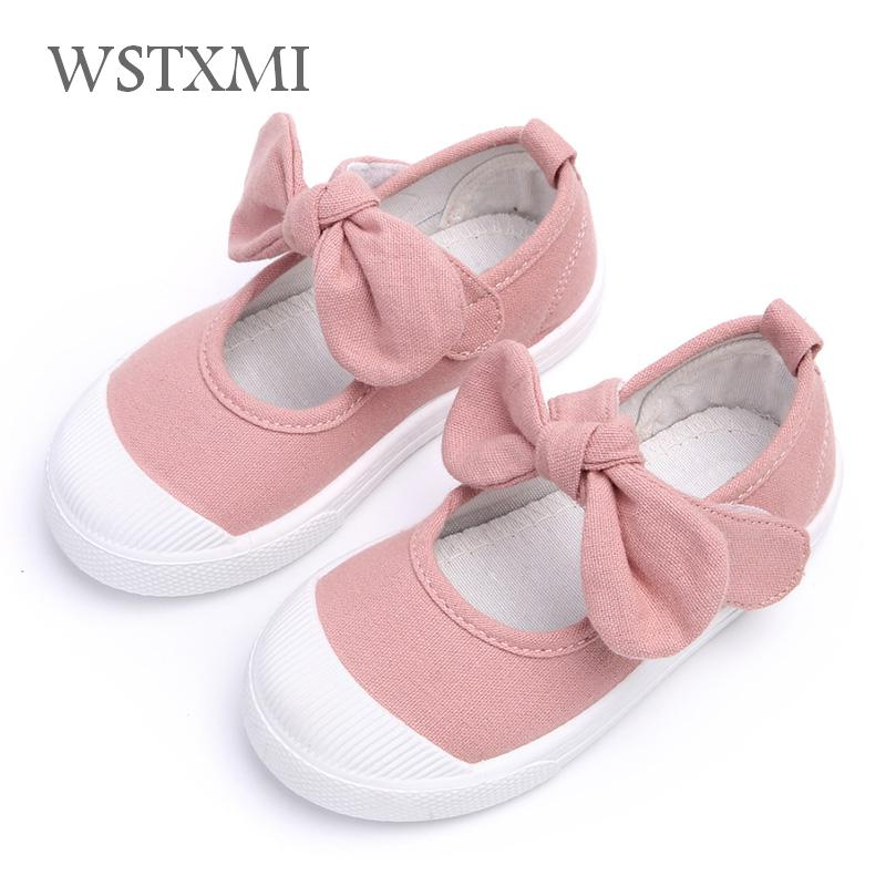 Children Shoes Girls Canvas Shoes Summer Baby Fashion Bowknot Comfortable Kids Casual Shoes Sneakers Toddler Girl Princess Shoes