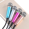 Fashion Portable Mini Microphone Stereo Condenser Mic For Iphone IOS Android Smart Phone PC Laptop Chatting Singing Karaoke