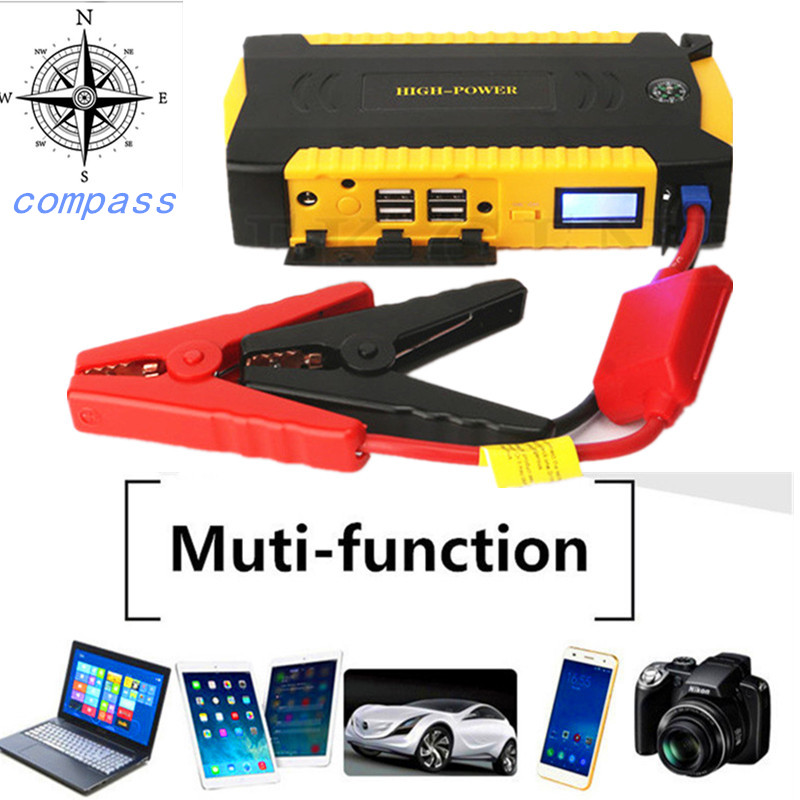 High Power Car Jump Starter 12V Portable Power Bank Battery Booster Buster 16000mAh Emergency Starting Device Car Charger LED