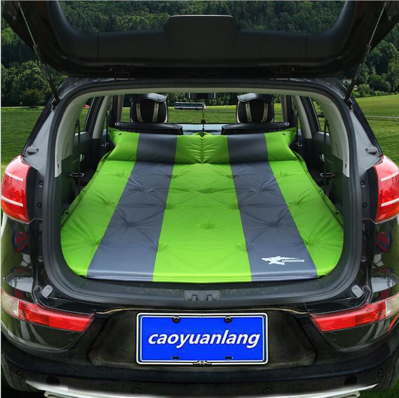 Automatic Inflatable Car Back Seat Cover Car Air Mattress Travel Bed Inflatable adult Bed Car Bed large space travel camping durable thicken pvc car travel inflatable bed automotive air mattress camping mat with air pump
