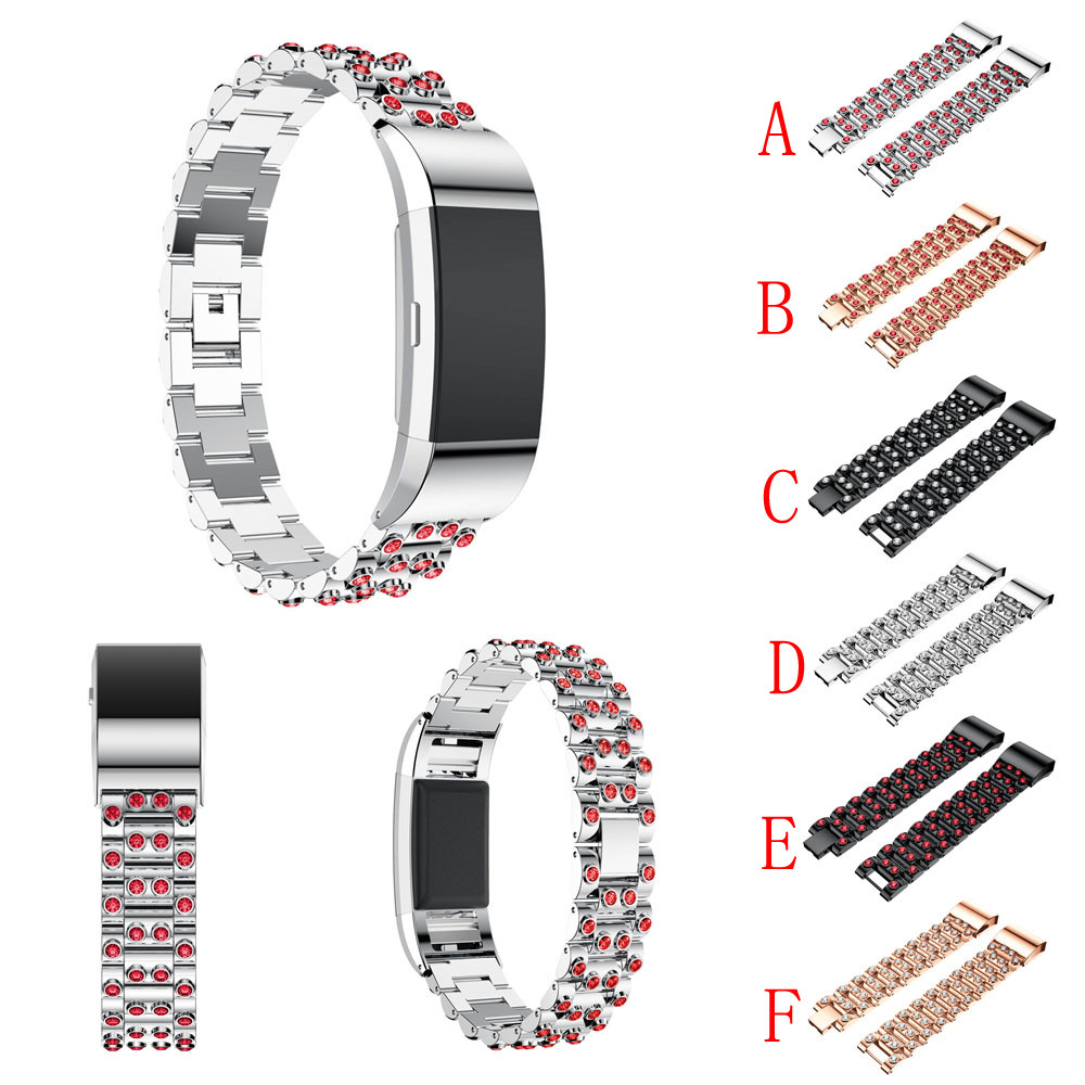 2017 Fashion  Genuine Stainless Steel Watch Bracelet Band Strap For Fitbit Charge 2 Watch drop ship Jul28 M30 crested stainless steel watch band for fitbit charge 2 bracelet smart watch strap for fitbit charge2 with connector