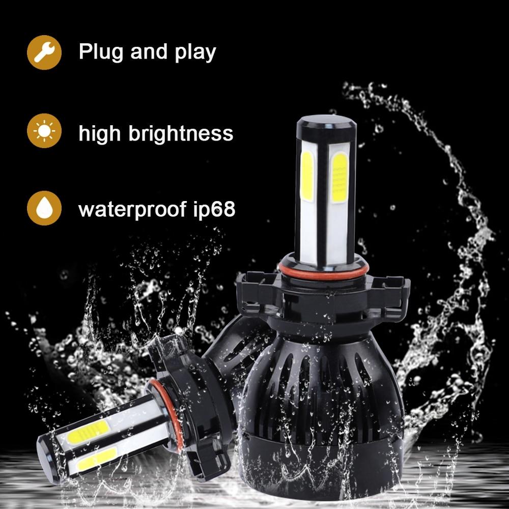 Image 2 - h4 led headlight H7 H11 H1 H3 880 9005 9006 hb3 hb4 5202 D2 9012 9004 9007 H13 H15 Car Light Bulb lampada H4 led COB 12V 6000K-in Car Headlight Bulbs(LED) from Automobiles & Motorcycles