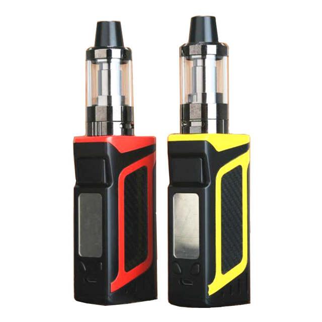 5pcs/lot 80W Electronic Cigarette Vape box mod Vaporizer Full Kit 510 Metal  Body E Hookah E Cig Smoke LED Smoking Vaper box Kit