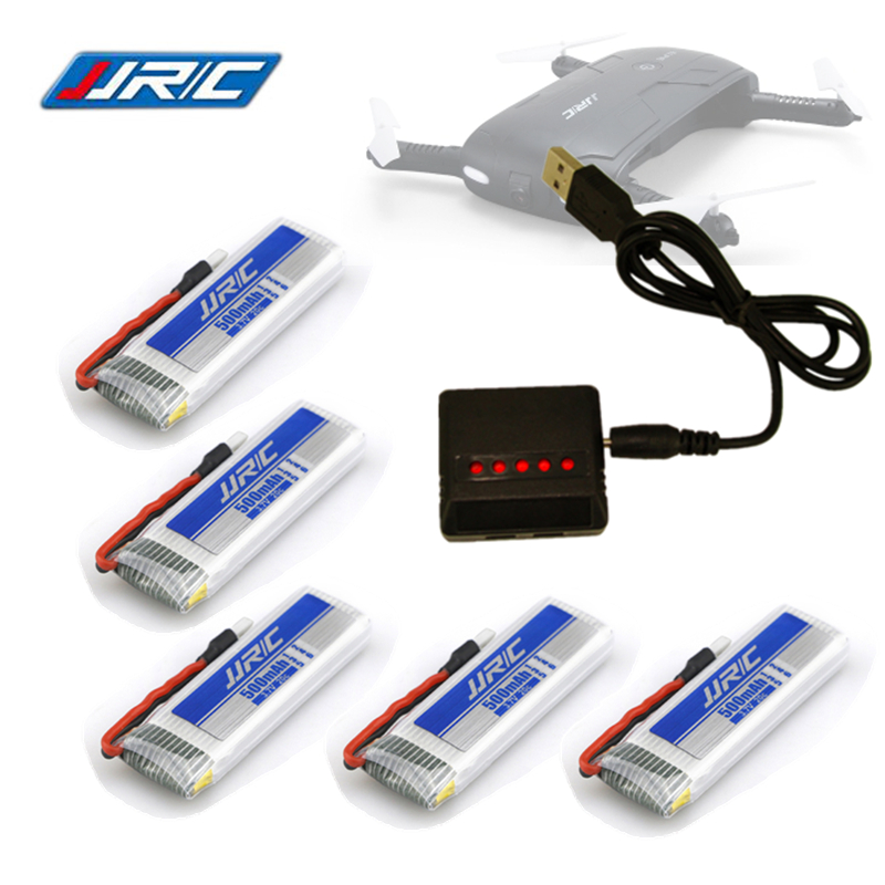Lipo Battery 3.7v 500mAh for E50 JJRC H37 ELFIE Drone RC Dron Helicopter Li-Battery Bateria + 5-in-1 Charger Spares Part