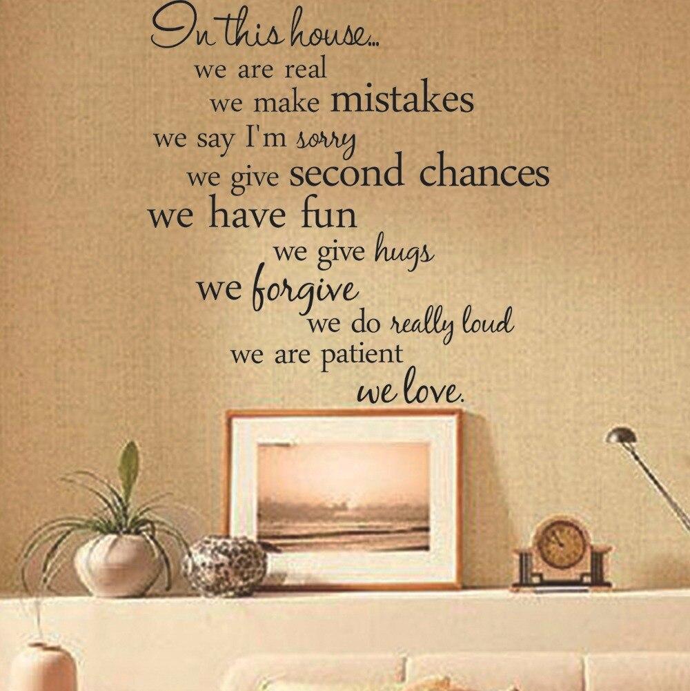 sale house rules vinyl wall art decal home decor living room diy ...