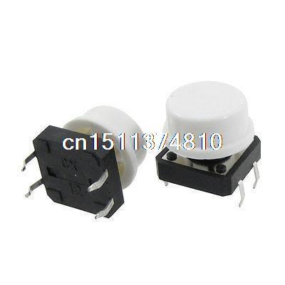 20pcs 12 x 12mm x 11mm Panel PCB Momentary Tactile Tact Push Button Switch w Cap 10pcs white square cap momentary tactile tact push button switch 12 x 12mm x 7 3mm