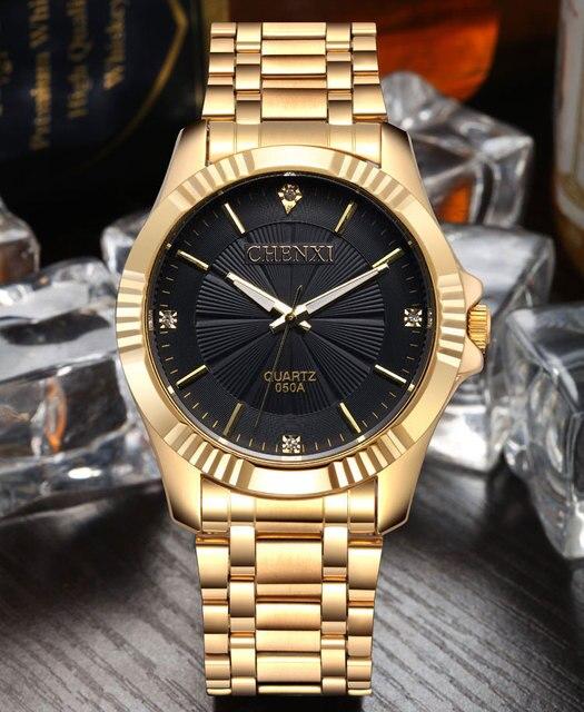Gold Stainless Steel Quartz-Watch Wrist Watch 2