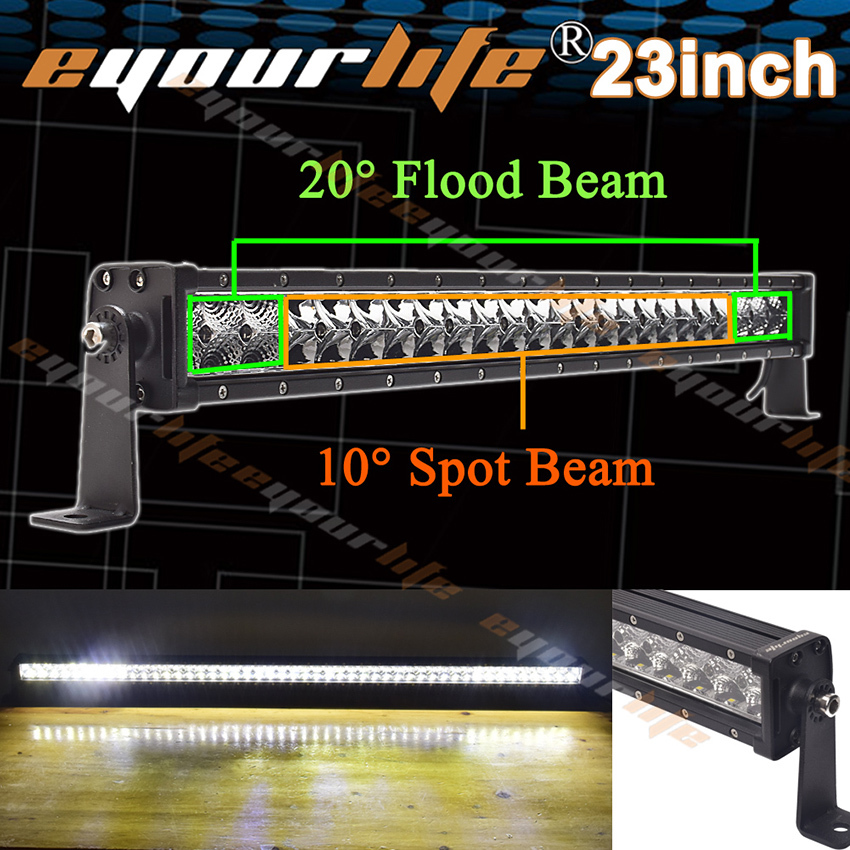 Eyourlife 22 23 24 inch led light bar 120W work light for OFFROAD ATV 4x4 TRUCK