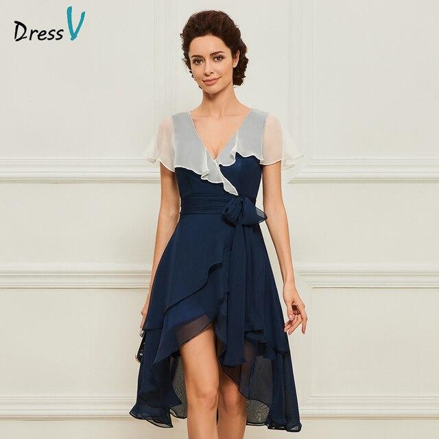 2f640677d957b Dressv a line knee length v neck mother of bride dress with short sleeves  jacket ruffles long mother evening gown custom