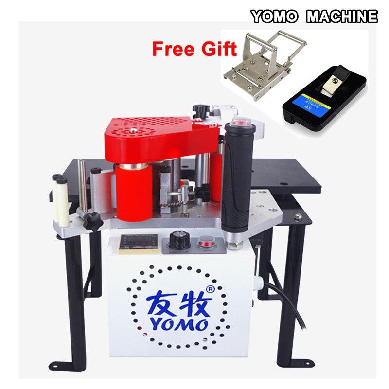 free shipping MY-60 portable edge bander machine doub sided glue woodworking PVC edge banding machine 110V/220v