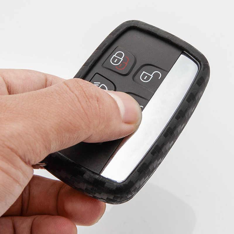 Carbon Faser Muster Auto Schlüssel Abdeckung Für Landrover 2 Range-Rover Freelander Evoque Entdeckung 4 Auto Schlüssel Fall Shell auto Zubehör