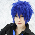 "SUNCOS VOCALOID Hatsune KAITO cosplay wig Heat resistance fibre, Blue 30cm 12"" man men cosplay wig Free shipping+Cap"