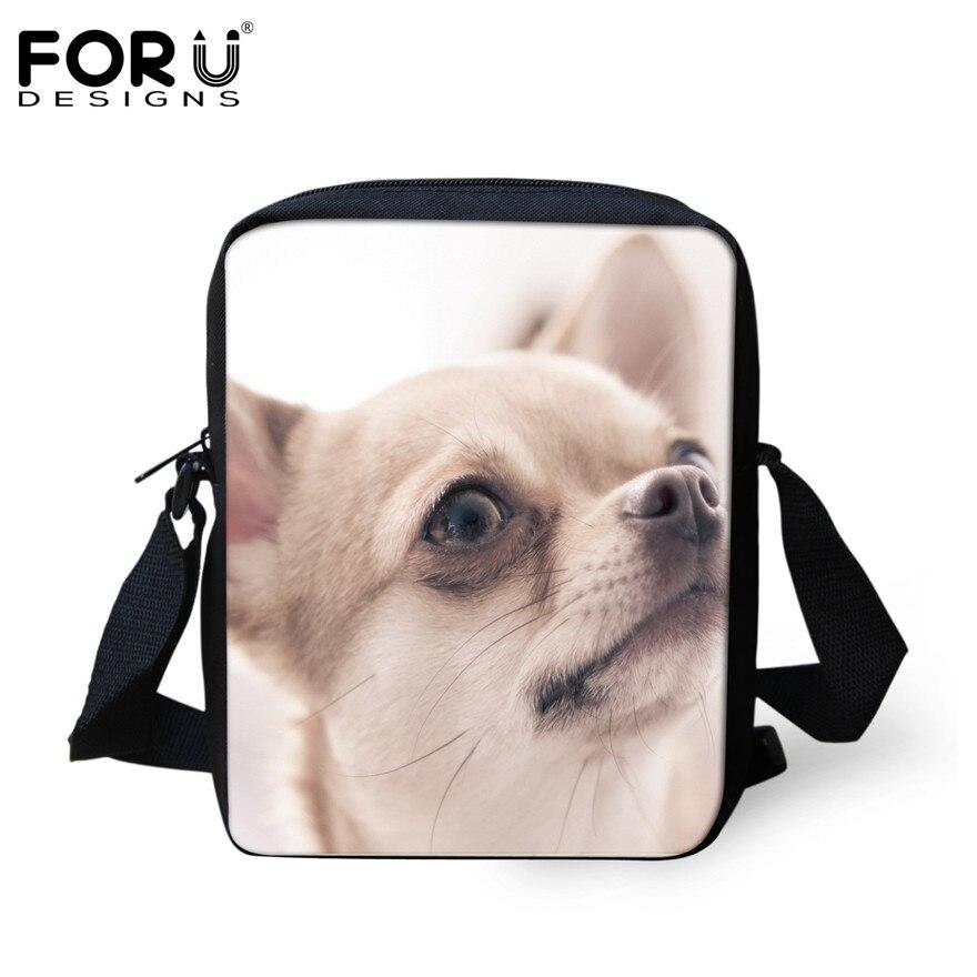FORUDESIGNS/женская маленькая сумка через плечо с объемным рисунком собаки чихуахуа, модные женские сумки-мессенджеры, сумки через плечо - Цвет: H127E