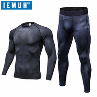 IEMUH Brand Outdoor Sports Men Winter Spring Thermal Underwear Breathable Quick Dry Fitness Hiking Ski Men