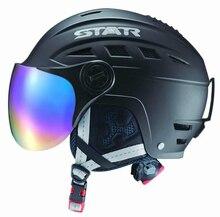 2015 adult Winter Ski Helmet sports Safety Outdoor helmet With ski mirror Regulation size adjustment