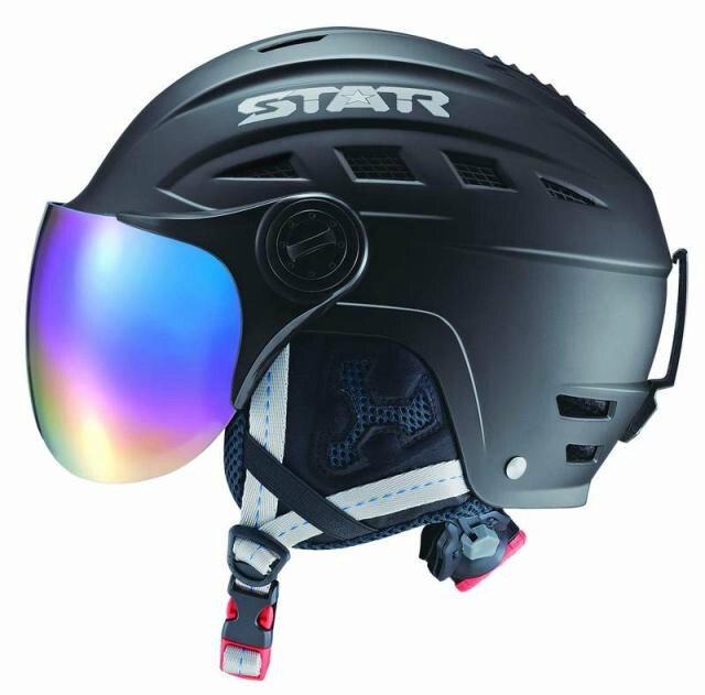 ФОТО 2017 Adult Winter Ski Helmet Sports Safety Outdoor Helmet With Ski Mirror Regulation Size Adjustment