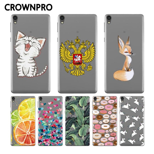 CROWNPRO FOR Sony Xperia E5 Case Silicone Soft TPU Covers Back FOR Sony Xperia E5 E 5 F3311 F3313 Phone Luxury Cases