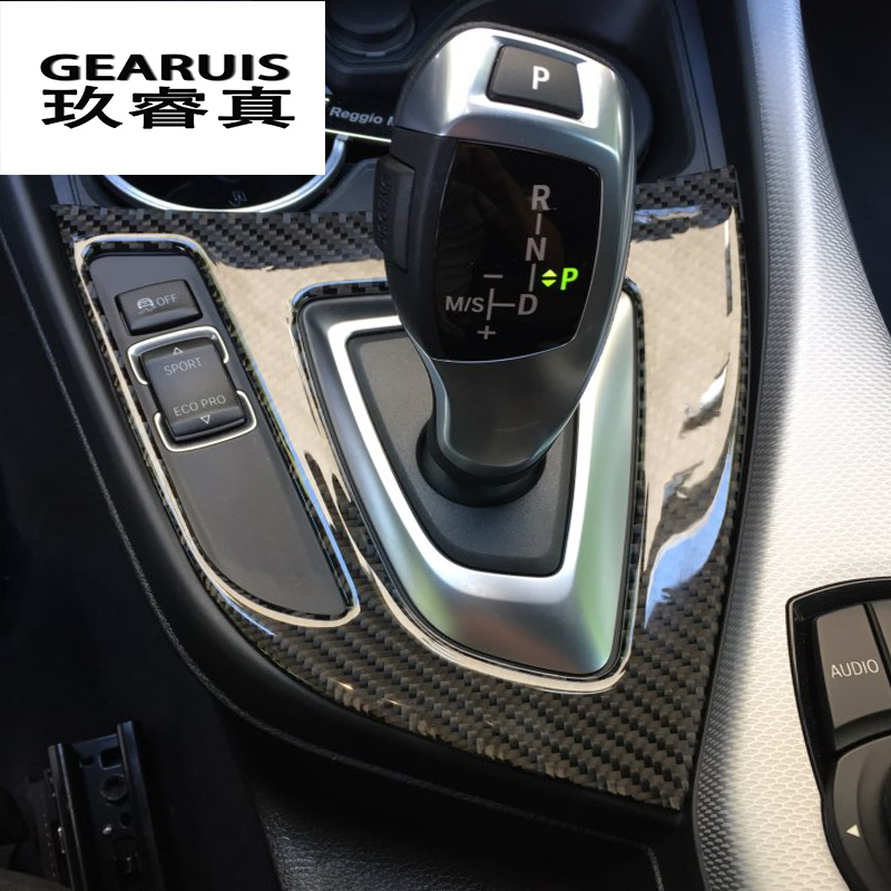For F20 F21 Carbon Fiber Gear Shift Panel Cover Trim Console Decoration Strip Stickers for BMW 1 Series 116i 118i Car Styling f20 carbon fiber replace car mirror cover cap trim for bmw f20 auto styling 2012 2014